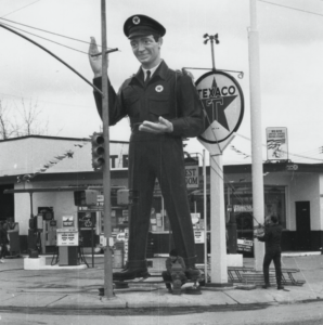 Route 66 Podcast Anthony Arno Joel Baker Texaco B&W texaco-cropped-small
