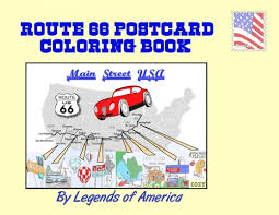 route 66 postcard book
