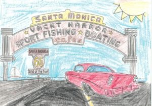 Route 66 Postcards Santa Monica Pier